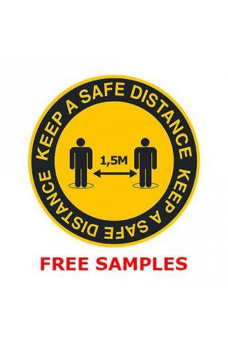 Floor sticker A4 sample pack
