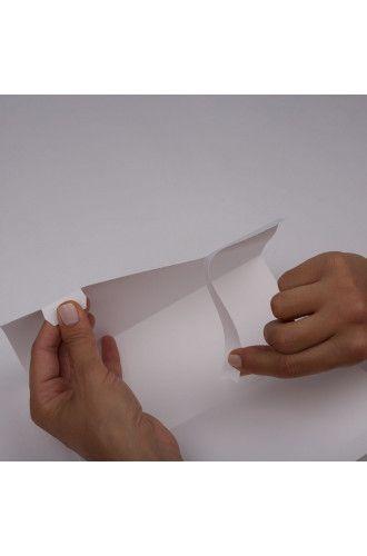 Matt White Film Pre-Fold Table Triangles
